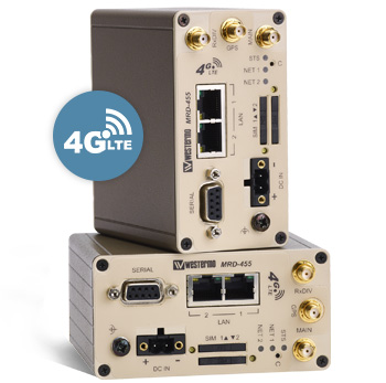 Two MRD-455-NA 4G LTE cellular routers.