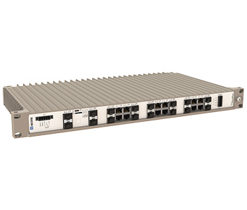 Westermo RedFox-5528-F4G-T24G-MV 19 inch Industrial Rackmount Ethernet Switch.