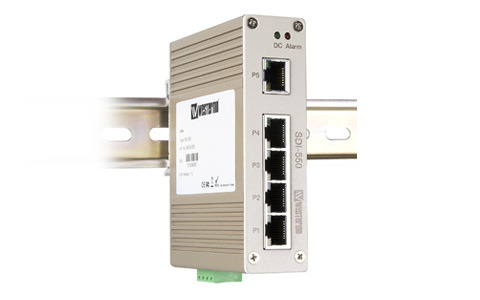 Westermo SDI-550 Compact 5-port industrial Ethernet Switch.
